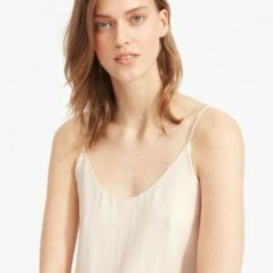 NWT Everlane silk cami pale pink size 0